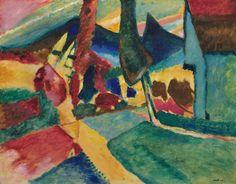 Vasilij Vasil'evič Kandinskij, Landscape with Two Poplars, 1912.