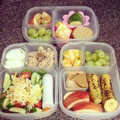 Quick and easy lunch box round up | packed in @EasyLunchboxes containers via skerbear - Instagram