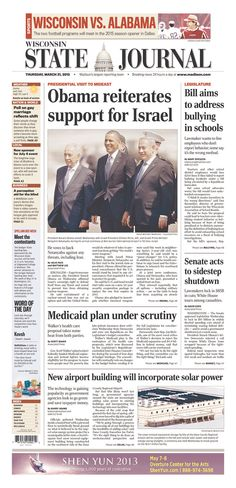 Wisconsin State Journal, published in Madison, Wisconsin USA