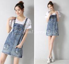 Módní Dámské Denim Jeans šle sukně kombinézy Student Neformální Krátké šaty
