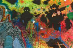 Daniel Richter, D.O.A.XL, 2010, oil on canvas, 200 x 300 x 4 cm Exhibition Voyage, Voyage at Galerie Thaddaeus Ropac - Paris, 04 Jul 20...