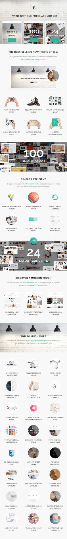What Our Customers are Saying     Main Features  BRIDGE is a retina multi-purpose WordPress theme built on the very powerful and flexible framework by QODE. You can easily ...