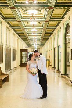 Soldiers & Sailors Memorial Hall & Museum | Pittsburgh Wedding Venue | Wedding Reception | Historic Wedding | Breanne & Brandon | December Wedding | Kelsey Kradle Photography | Grand Ballroom | Lea's Florist | All the Best Catering | Signature Desserts