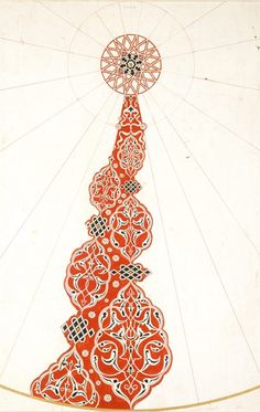 "design-is-fine: ""Owen Jones Original drawing for The Grammar of Ornament (Persian No. Islamic Art Pattern, Arabic Pattern, Mandala Drawing, Mandala Art, Pattern Drawing, Pattern Art, Arabesque, Persian Motifs, Ancient Egyptian Art"