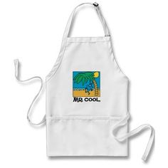 Mr Cool Beach Scene Aprons
