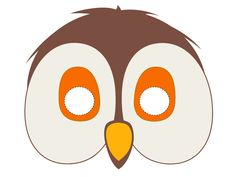 Great Printable Owl Mask For First Birthday Craft. Print In Black And White On  Cardstock And