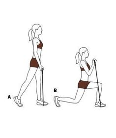 Easy Resistance Band Exercise: Lunge With Biceps Curl
