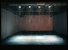 Olafur Eliasson, Your strange certainty still kept, A curtain of water droplets, illuminated by strobe lights, appears frozen in midair. Studio Olafur Eliasson, Icelandic Artists, Institute Of Contemporary Art, Light Installation, Art Installations, Light Effect, Art Pages, Light Art, New Art