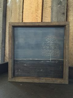 Engraved Art - Tree Art - Rustic Home Decor - Stormy Art - Primitive Art - Primitive - Rainy Art - Grey Decor - Gray Decor - Gray Art