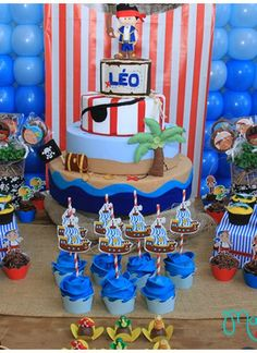 Awesome Jake And The Neverland Pirates Birthday Party! See more party ideas at CatchMyParty.com!