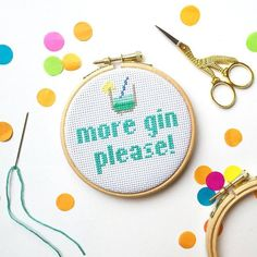 Funny cross stitch kit- cross stitch kit- cross stitch pattern- secret santa gifts- gin gifts- craft gifts- gifts for mums-gifts for friends
