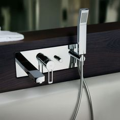 $1344 In Wall Tub Faucet with diverter and handshower by Paffoni, PureModern