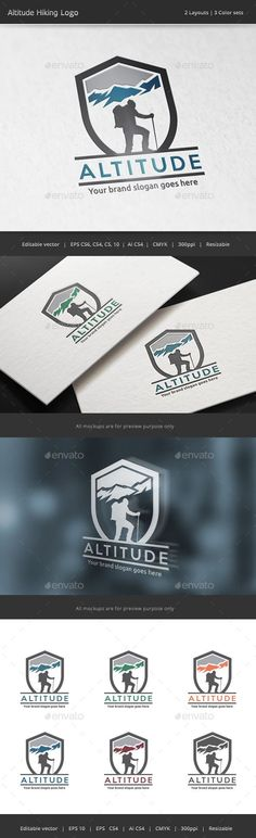 Altitude Hiking Logo - Nature Logo Templates