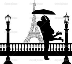 couples in love paris | -Couple-in-love-with-umbrella--in-front-of-Eiffel-tower-in-Paris ...