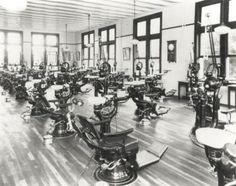 History of Louisiana Dental Schools. Dental school clinic, 1930's