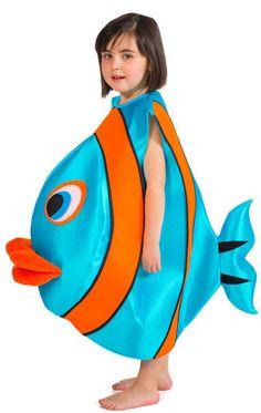 Blauer Blubber Fisch Kinderkostüm NEU - Mädchen Karneval Fasching Verkleidung K in Kleidung & Accessoires, Kostüme & Verkleidungen, Kostüme | eBay