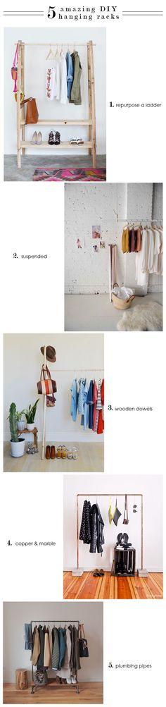 [ things I love ] 5 DIY Hanging Racks