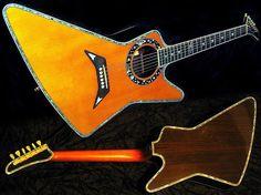 Guitar Blog: Vintage & Rare guitar of the week: Dommenget Maththias Jabs Acoustic Explorer