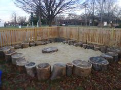 """Love this outdoor sandpit - image shared by 'Discovery Early Learning Center' ("""",)"""