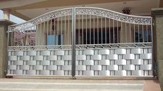 FYI: house grill new design Fence Gate Design, Steel Gate Design, Front Gate Design, House Gate Design, Modern House Design, Door Design, Home Grill Design, Window Grill Design, Main Gate Design Catalogue