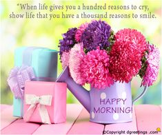 To wish Good Morning to your friends and family