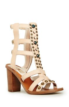 bf8f8a040b6 DailyLook  MIA Limited Edition Sphinx Sandals in Nude