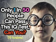 Only 1 In 50 People Can Pass This IQ Test, Can You?