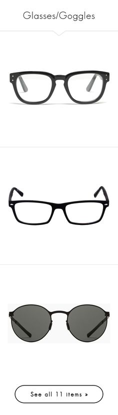 """""""Glasses/Goggles"""" by drskullz on Polyvore featuring accessories, eyewear, eyeglasses, glasses, sunglasses, oculos, true black, round eyeglasses, round eye glasses and marble eyeglasses"""