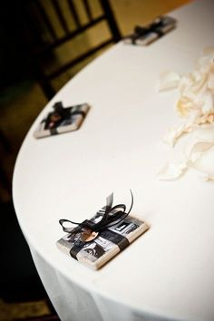 22. #Coasters - 29 #Wedding #Favors without #Candy or #Food ... → Wedding [ more at http://wedding.allwomenstalk.com ]  #Non #Soap #Home #Edible #Alcohol