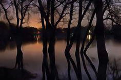 Braunschweig Ölper See bei Nacht