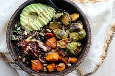 Quinoa Power Bowls with Maple Chipotle Brussels and Smoky Butternut Squash