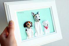 Custom dog portraits Maltese portrait Beagle by NicomadeMe on Etsy