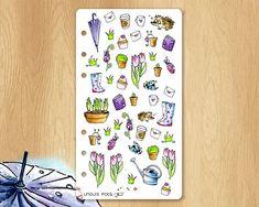 * * HABILLEZ VOTRE AGENDA FORMAT PERSONAL POUR LE PRINTEMPS * * Ce set dautocollants réalisés entièrement à la main est parfait pour donner de la poésie et du rêve à vos agendas, à vos planners ou pour votre scrapbooking, pourquoi pas ? Autocollants réalisés à l'aquarelle ? Tous mes Watercolor Stickers, Avril, Parfait, Scrapbooking, Illustrations, Vintage, Spring, Inspiration, Etsy