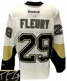 Featured is a Marc-Andre Fleury signed Pittsburgh Penguins Reebok premier  jersey. This jersey 78c5157c1