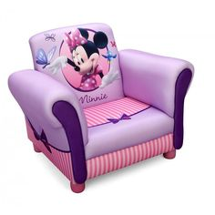 Your aspiring Musketeer can be comfy in their Clubhouse thanks to this Disney Minnie Mouse Upholstered Chair from Delta Children. A cozy toddler chair, it features a . Disney Furniture, Kids Furniture, Baby Bedding Sets, Crib Bedding, Minnie Mouse, Toys R Us, Kids Armchair, Children's Armchair, Cheap Adirondack Chairs