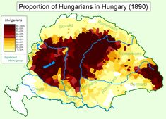 Hungarians in Hungary - other significant ethnic grou.- Hungarians in Hungary – other significant ethnic groups are labeled Hungarians in Hungary – other significant ethnic groups are labeled - Hungary Travel, Fun World, Alternate History, Old Maps, Historical Maps, Ethnic, Genealogy, Austria, Charts
