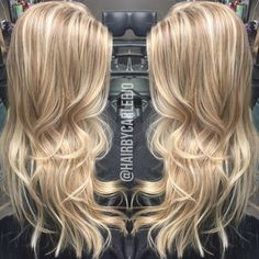 Blonde haircolor • hair trends • long layers