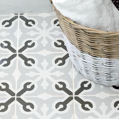 Graphic urban tiled bathroom flooring | Urban hotel-style bathroom decorating ideas | decorating | PHOTO GALLERY | Housetohome.co.uk