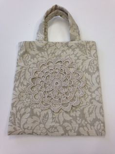 Fabric bag with crochet