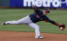 Boston Red Sox shortstop Jose Iglesias looks to field a ball hit by Pittsburgh Pirates' Brandon Inge during the third inning of a baseball spring training exhibition game, Thursday, Feb. 28, 2013, in Bradenton, Fla. Inge singled on the grounder. (AP Photo/Charlie Neibergall)