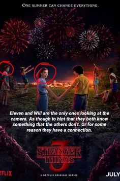 Oooooorrrrr maybe it is their connection to the Upside Down? They *are* both looking at the monster. Netflix Stranger Things, Stranger Things Theories, Stranger Things Actors, Stranger Things Have Happened, Stranger Things Quote, Stranger Things Aesthetic, Stranger Things Season 3, Eleven Stranger Things, Hopper Stranger Things