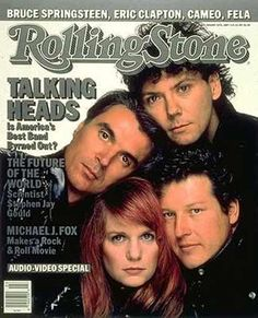 Talking Heads on the Cover of Rolling Stone Magazine - www. Kinds Of Music, Music Love, Music Is Life, Rock Music, My Music, Rolling Stone Magazine Cover, The Rolling Stones, We Will Rock You, Bruce Springsteen