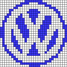 Volkswagen logo perler bead pattern