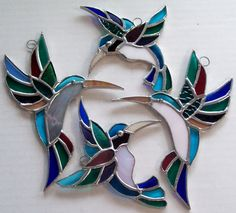 Hummingbird stained glass - pretty!