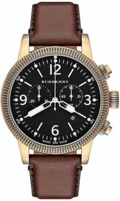 NEW BU7819 BURBERRY MENS WATCH BROWN LEATHER BAND MSRP$895.00