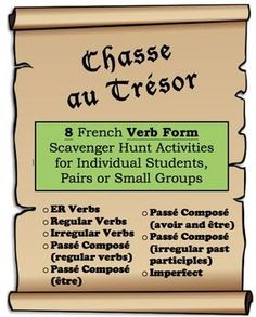 Learn French With Alexa Watches French Learning Videos Mini Books Info: 9348997509 High School French, French Class, French Teacher, Teaching French, Procedural Writing, Verb Forms, French Verbs, Classroom Procedures, Irregular Verbs