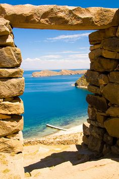 Lake Titicaca, Peru, the highest lake in the world