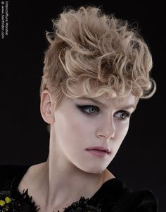 Curly hawk - short up-do ideas