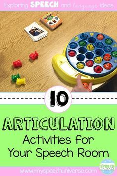 Here are 10 fun ideas to target articulation with your speech and language students. Kids love these activities!