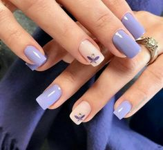 35 charming and beautiful purple nail designs charming purple nail designs - Nails - Best Nail World Purple Nail Designs, Fall Nail Art Designs, Acrylic Nail Designs, Acrylic Nails, Trendy Nail Art, Stylish Nails, Easy Nail Art, Nagellack Design, Nagellack Trends